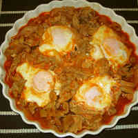 Pork and Eggs with Ketchup