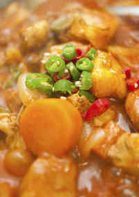Spicy Korean Chicken Hot Pot (Daktoritang)