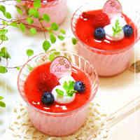 No-Bake Strawberry Cheesecake Mousse with Strained Yogurt.