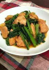 Super Thrify! Yakiniku-Style Chicken and Komatsuna Stir-fry