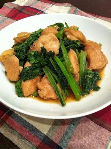 Super Thrify! Yakiniku-Style Chicken and Komatsuna Stir-fry
