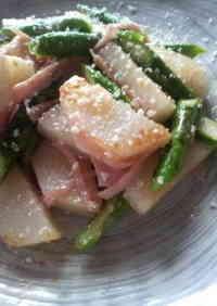 Yam and Asparagus Garlic Stir Fry