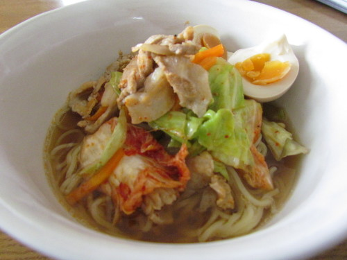 Gingery Vegetable Ramen Noodles