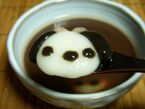 "Chilled Dessert ""Doggie Mochi Balls in Anko Soup"""