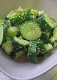 Pounded Cucumber Sprinkled with Sesame Salt