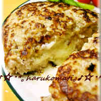 Tender Enoki Hamburger Steaks Stuffed with Cheese