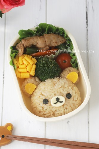 Simple Character Bento Rilakkuma Rice Ball