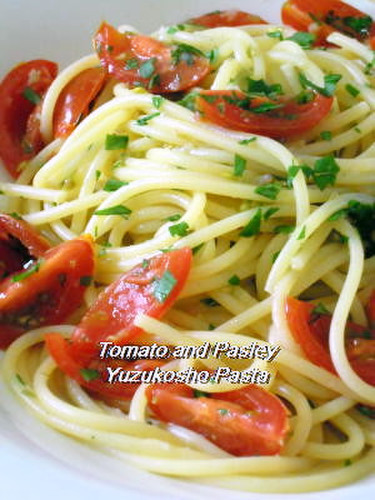 Tomato & Parsley Pasta with Yuzu Pepper