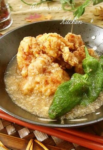 Chicken Karaage With Nagaimo Yam and Daikon Radish Sauce
