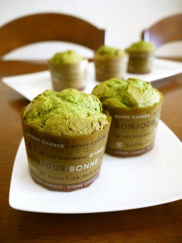 Matcha Tea Muffins Using Pancake Mix
