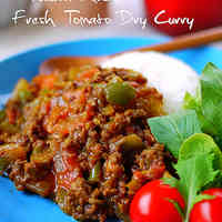 Summery Dry Curry With Fresh Tomatoes