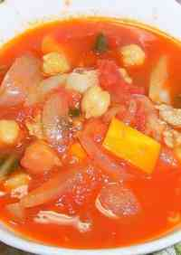 Canned Tomato and Chickpea Minestrone