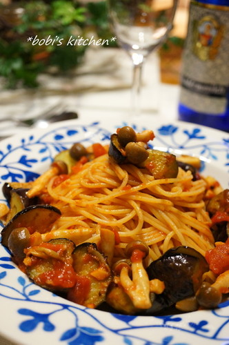 Pasta with Eggplant and Tomato Sauce