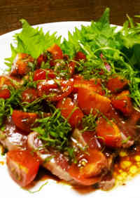 Easy Italian: Bonito and Tomato Carpaccio