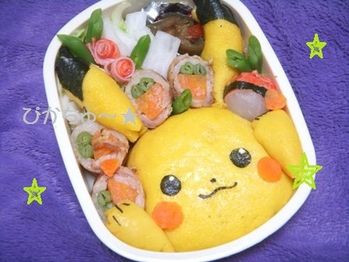 Character Bento Pikachu Omu-rice Bento