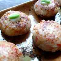 Shiitake Mushrooms Stuffed with Crabsticks