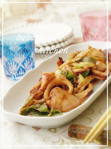 My Mother-in-law's Squid Miso Stir Fry Recipe