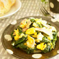Sautéed Spinach with Bacon and Eggs