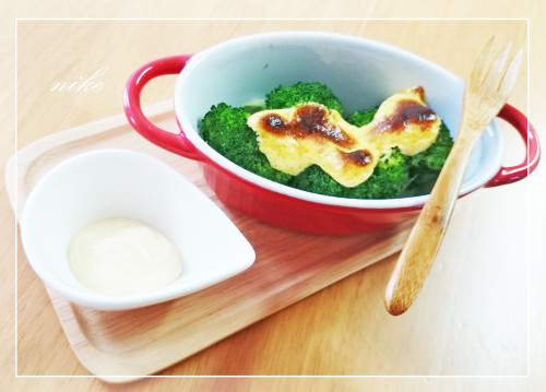 Easy Bento Dish Broccoli with Curry and Mayonnaise