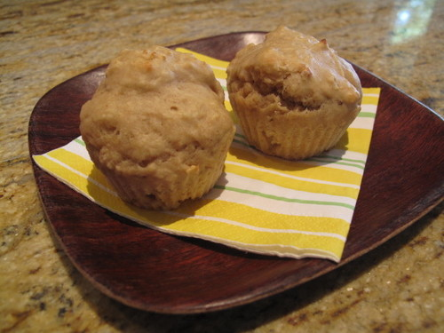 Peanut Butter and Banana Muffins