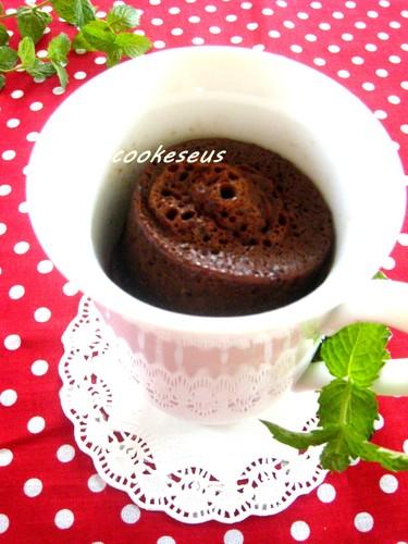 Mocha Chocolate Cake in a Mug