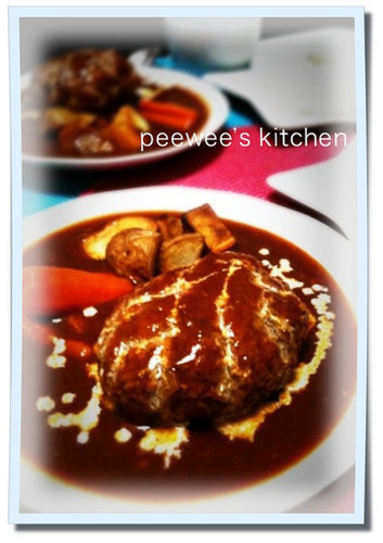 Hamburger Steaks Simmered in Sauce