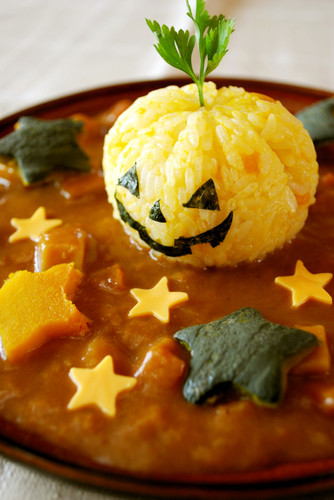 Halloween Jack-o'-Lantern Curry