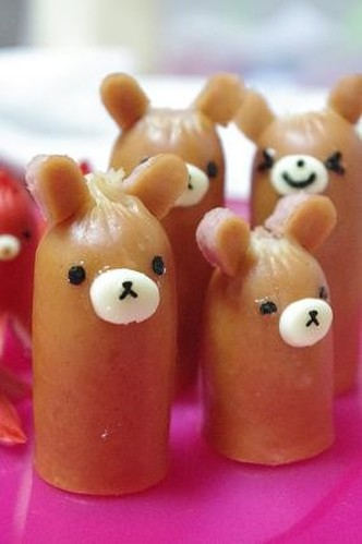 Wiener Sausage Bears for Bento