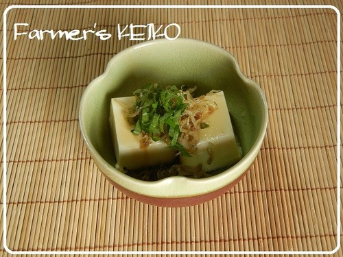 [Farmhouse Recipe] Chilled Tofu with Crispy Chirimenjako Fish