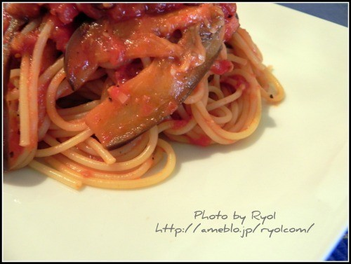 Block Bacon and Eggplant Pasta all'Arrabiata