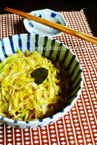 Japanese-Style Boiled Sauerkraut in the Microwave