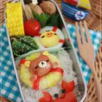 Charaben Rilakkuma made from Mini Sausages