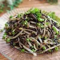 Hijiki Seaweed, Konnyaku, and Bean Sprout Namul
