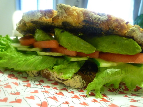 Healthy Avocado & Hijiki Seaweed Sandwich
