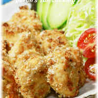 Baked Panko Chicken Breast with Grain Mustard Mayo Sauce