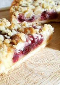 Red Berry Crumble Tart