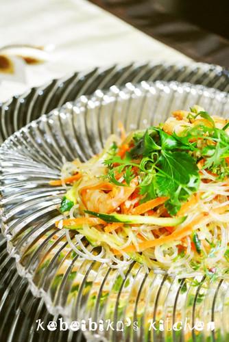 Yum Woon Sen with Shio-Koji Soboro - Thai-style Salad