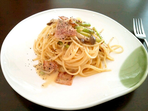 No Oil or Cream Added! Whole Egg Spaghetti Carbonara