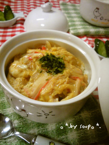 Fluffy and Creamy Imitation Crab and Egg Rice Bowl
