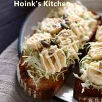 For Breakfast Banana Cabbage Toast