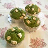 Matcha Muffins with White Chocolate