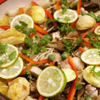 Mushrooms and Chestnuts in Autumn-Coloured Paella