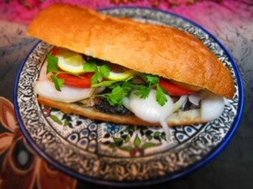 Istanbul's Famous Mackerel Sandwich