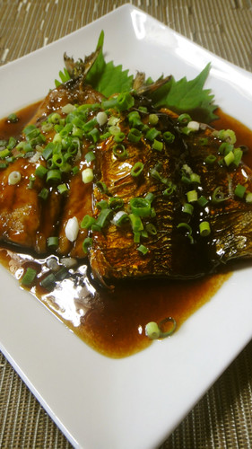 Seasonal Pacific Saury in Teriyaki Sauce