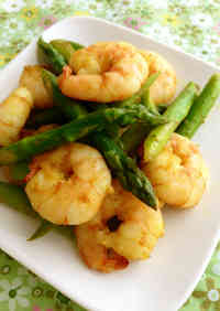 Curry Shrimp and Asparagus Stir-fry