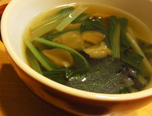Zha Cai (Sichuan Pickle) and Spinach Soup