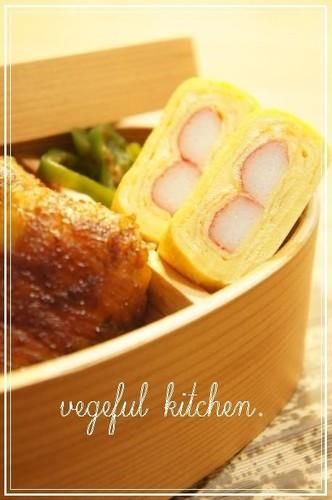 Tamagoyaki with Imitation Crab for School Trip or Sports Day Bentos