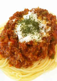 Meat Sauce Pasta from Canned Tomatoes