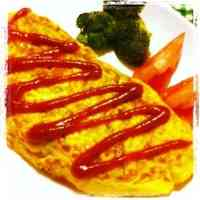 Cabbage and Cheese Omelette