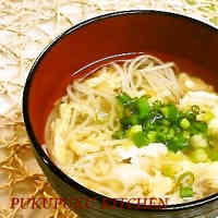 Easy, Hot Somen Noodles with Egg Soup